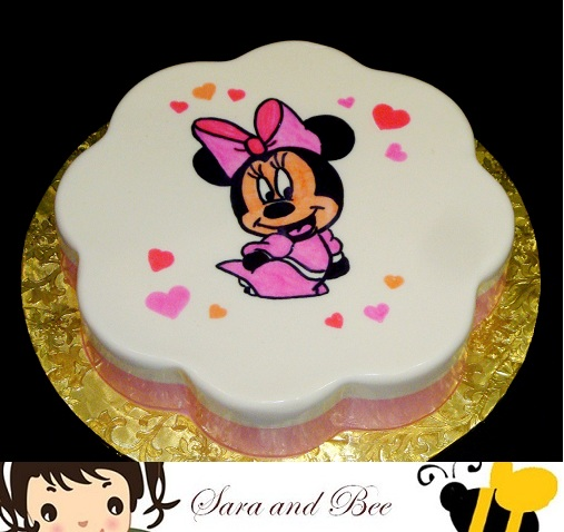 Gelatinas decoradas de Minnie Mouse - Imagui